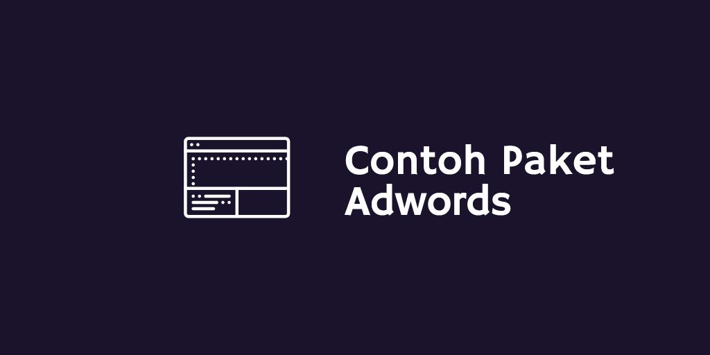Contoh Paket Adwords